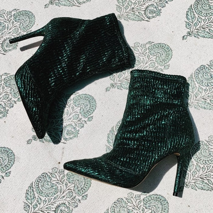 Strut your stuff when styling the Lailra bootie from Jessica Simpson featuring a structured design and an elevated heel that provides towering height