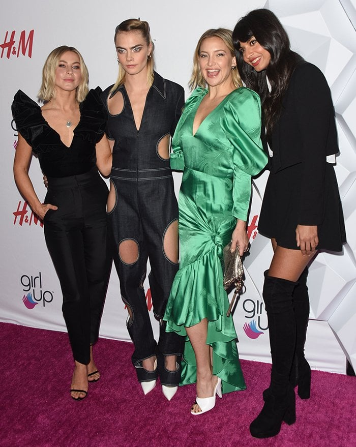 Julianne Hough, Cara Delevingne, Kate Hudson, and Jameela Jamil at the 2nd Annual Girl Up #GirlHero Awards