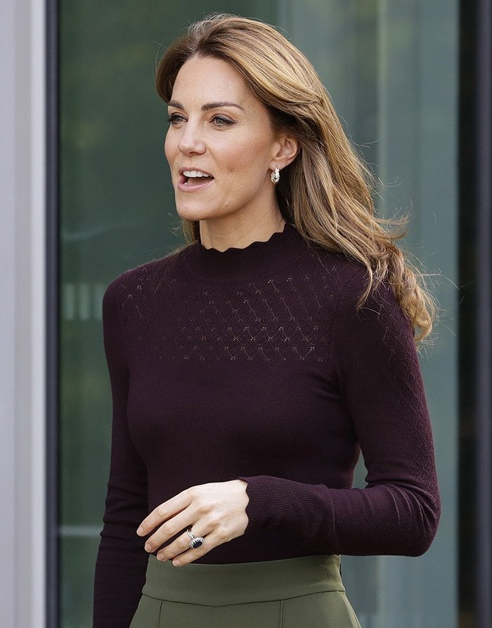 Catherine was all smiles as she visits the museum in London