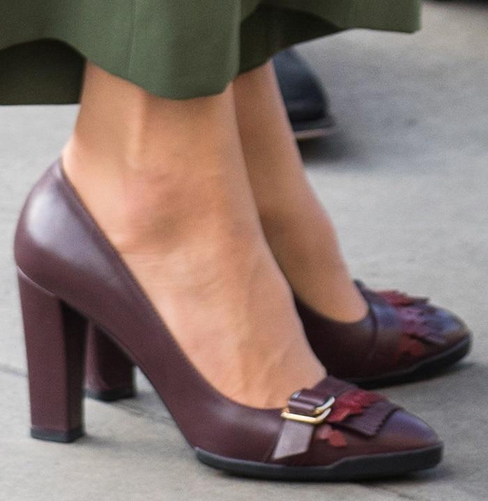 Kate Middleton wearing her favorite Tod's fringe pumps