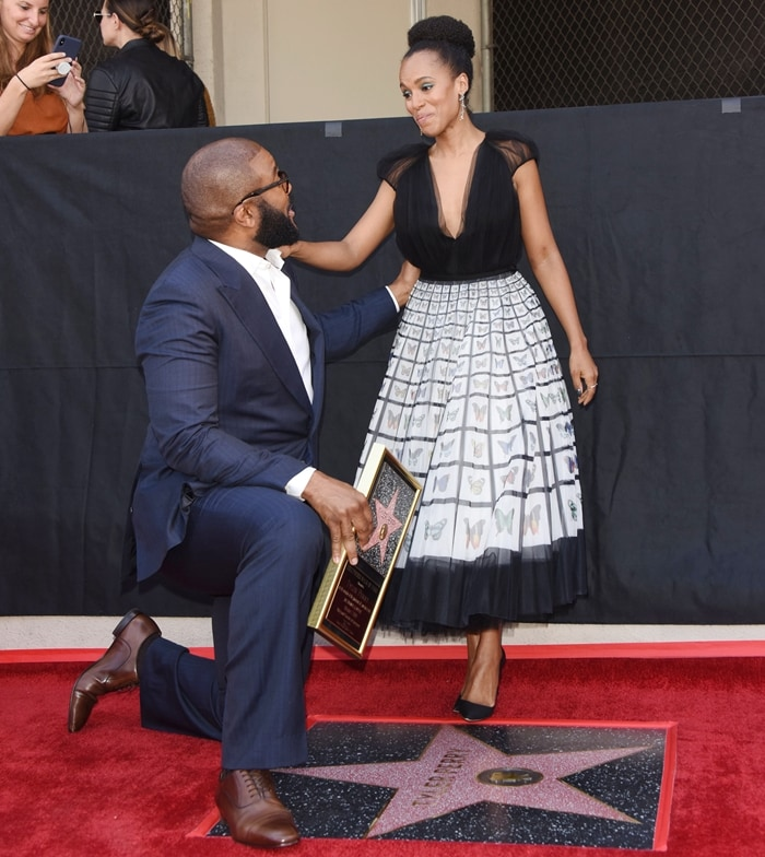 Kerry Washington joined Tyler Perry at his Hollywood Walk of Fame Ceremony