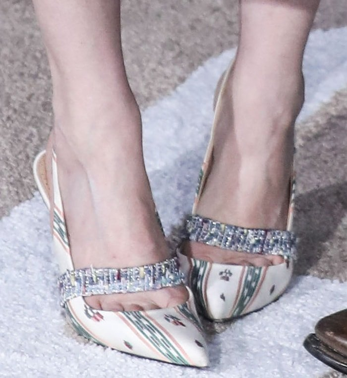 Kirsten Dunst took the whole look up a notch with Brock Collection slingback pumps