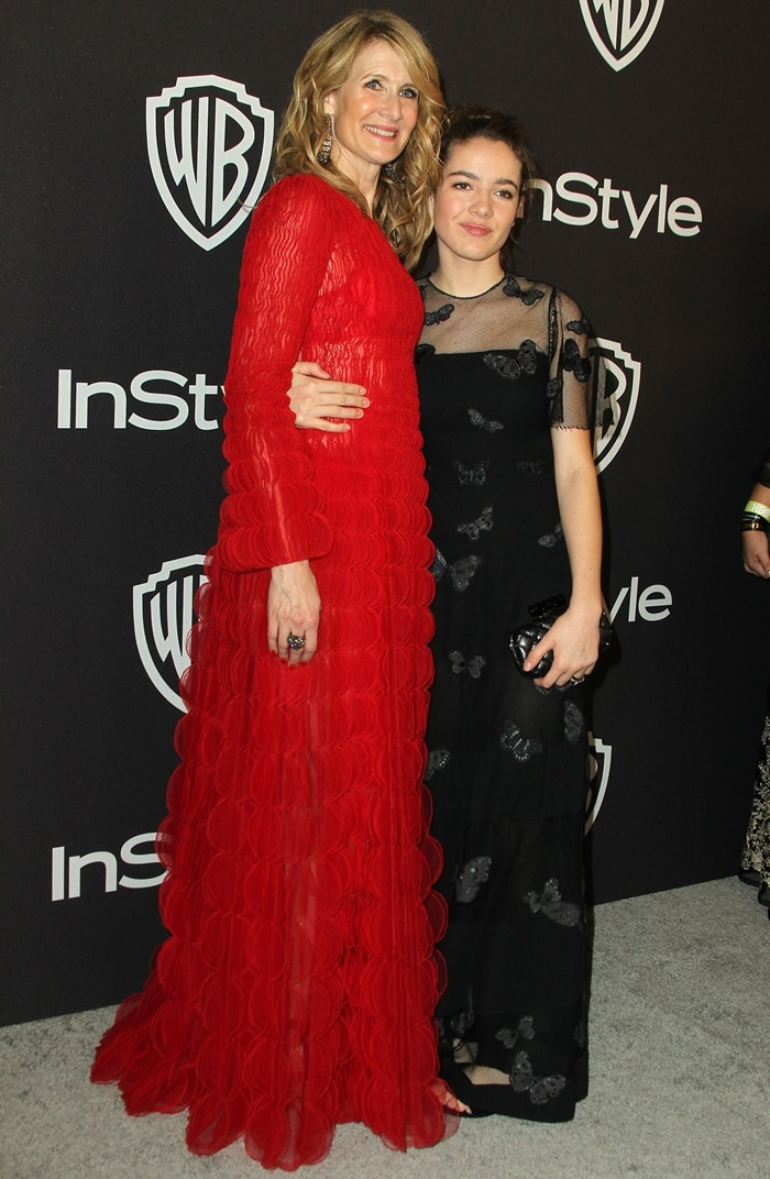 Laura Dern and Jaya Harper attend the InStyle And Warner Bros. Golden Globes After Party 2019