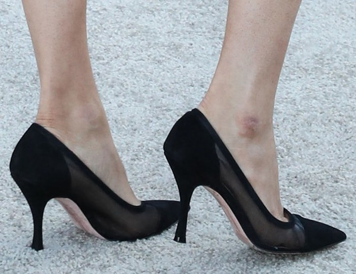 Lauren Parsekian opted for sexy yet refined pumps by Stuart Weitzman