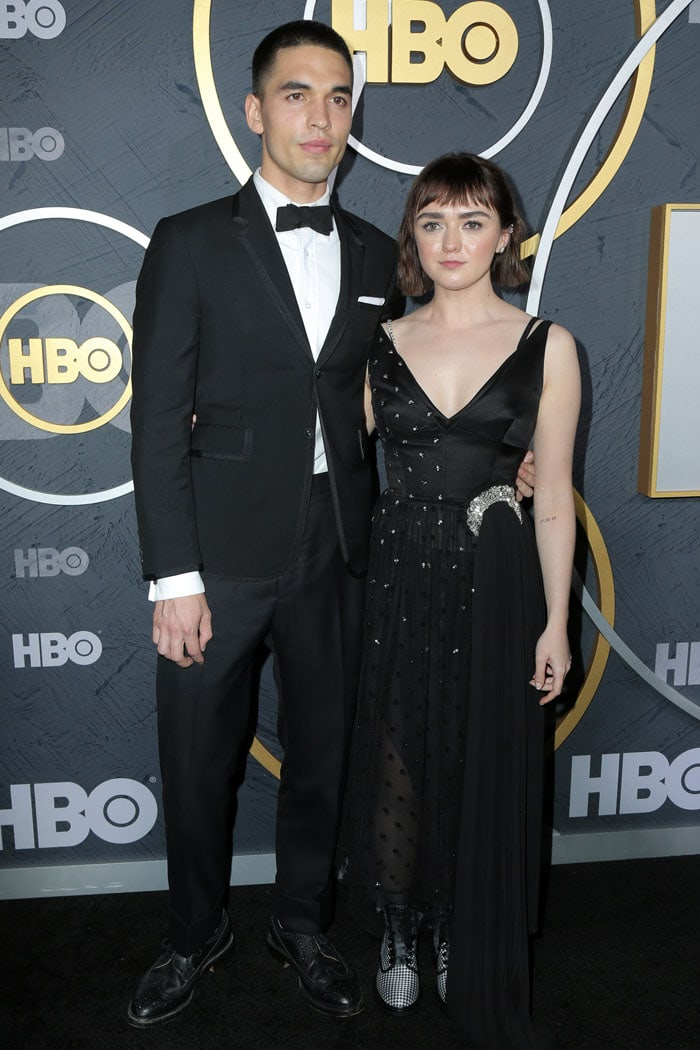 Maisie Williams and Reuben Selby at HBO's 2019 Emmy After-Party