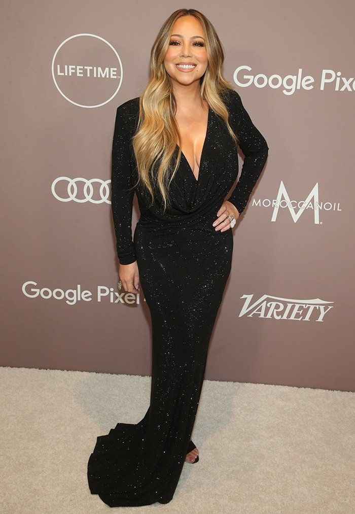 Mariah Carey glams up in Alexandre Vauthier dress at Variety's Power of Women luncheon held at the Beverly Wilshire Four Seasons in Los Angeles on October 11, 2019