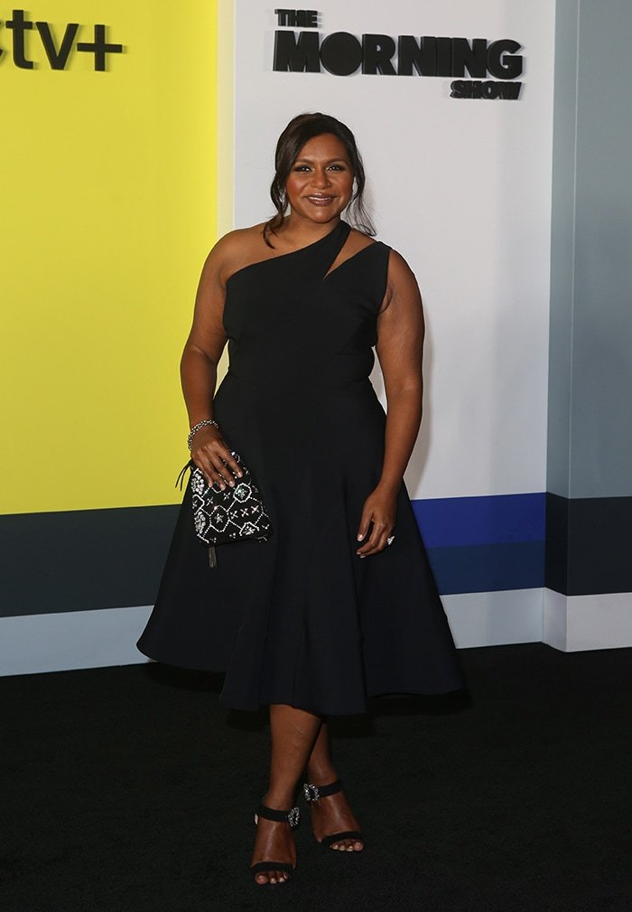 Mindy Kaling looks glamorous in Maticevski dress