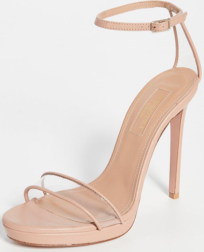 Powder Pink Aquazzura Minimalist 115mm Sandals