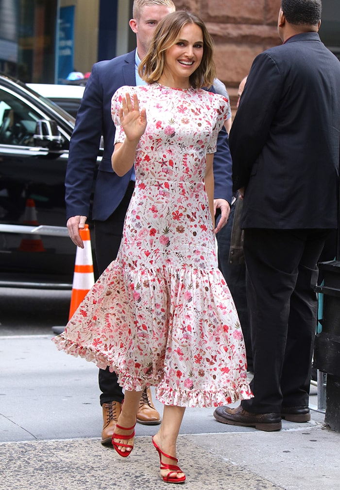 Natalie Portman promotes Lucy in the Sky at AOL Build Series in New York City on October 2, 2019
