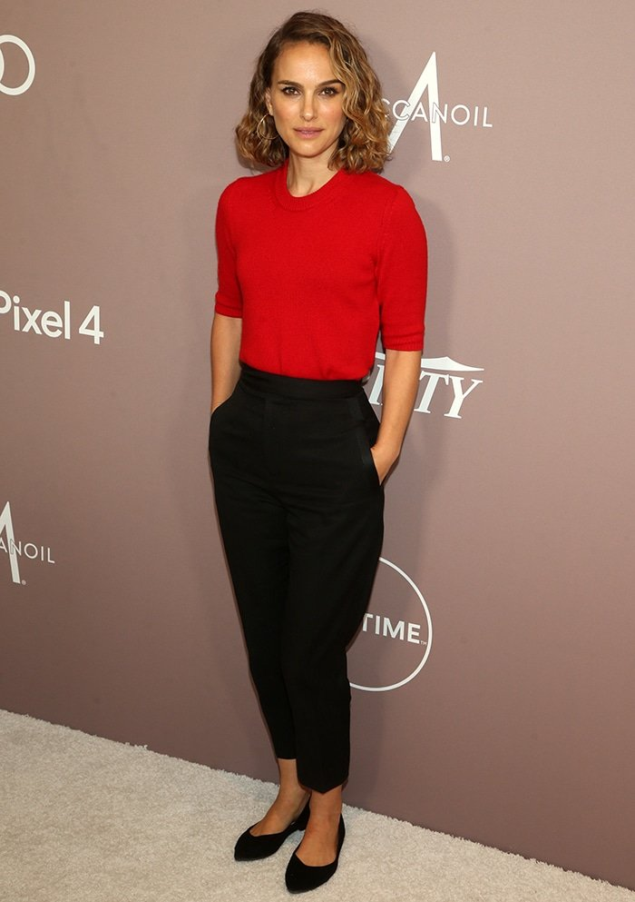 Natalie Portman wears eco-friendly shoes from Rothy's at Variety's Power of Women luncheon