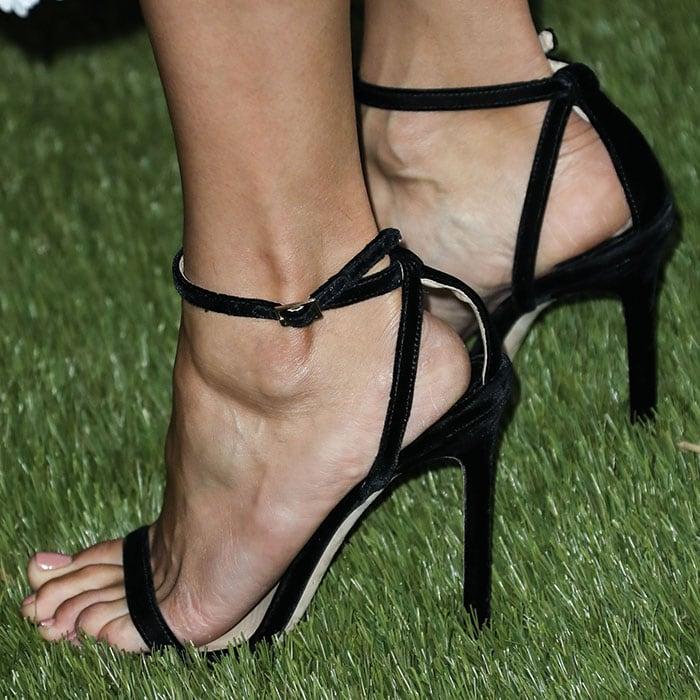 Nina Dobrev's sexy feet in Jimmy Choo 'Minny' sandals