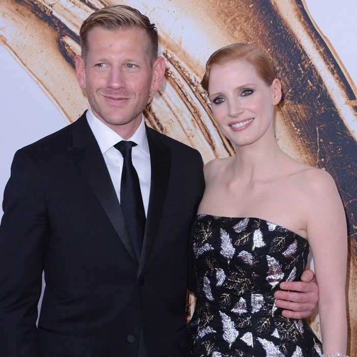 Paul Andrew and Jessica Chastain attend the 2016 CFDA Fashion Awards