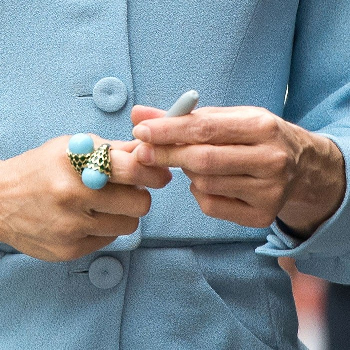 Renée Zellweger's David Webb turquoise wrap ring