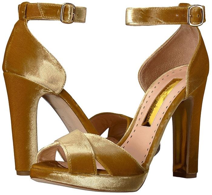 Meadow Metallic Velvet Platform Sandals