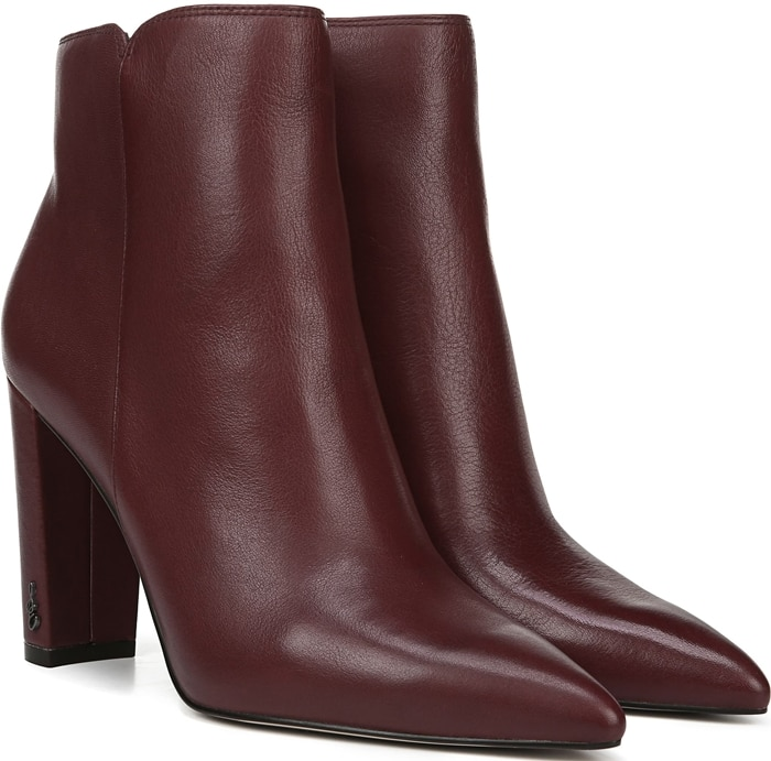 The kind of boot that just magically goes with everything you own, Raelle features a smart pointy-toe silhouette and logo hardware at the heel