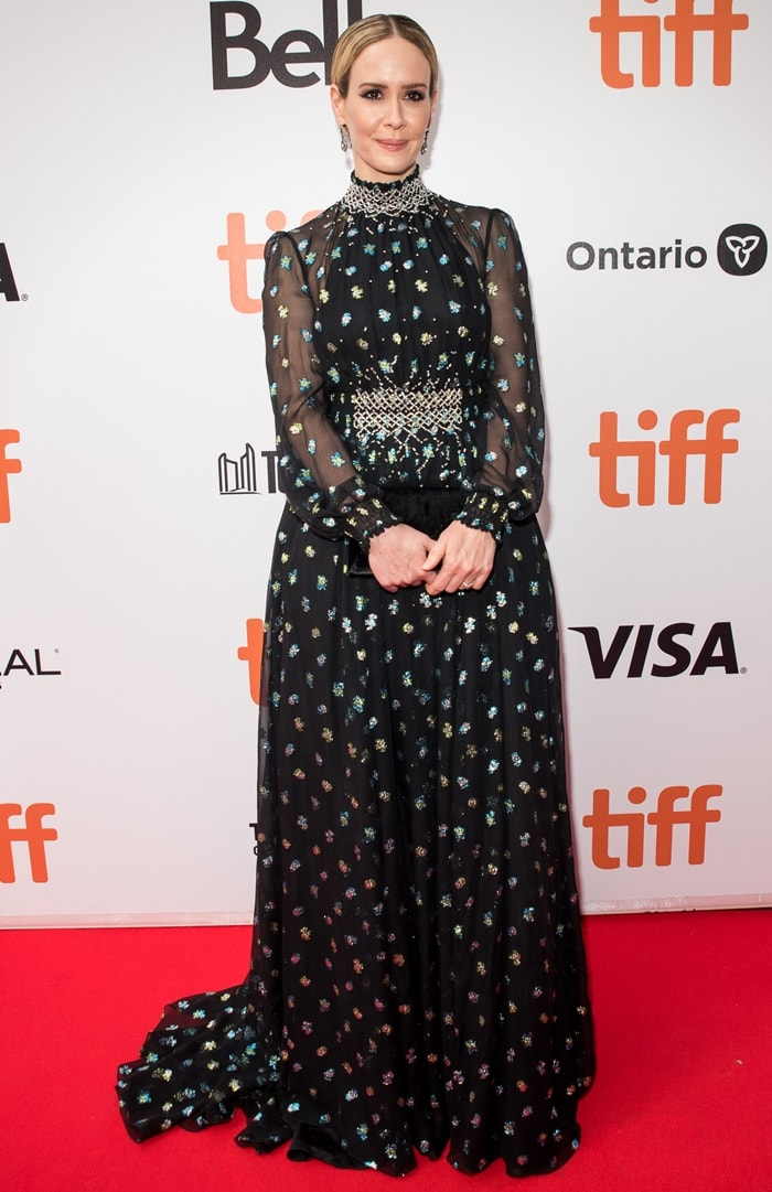 Sarah Paulson arrives at The Goldfinch premiere at the Roy Thomson Hall in Toronto