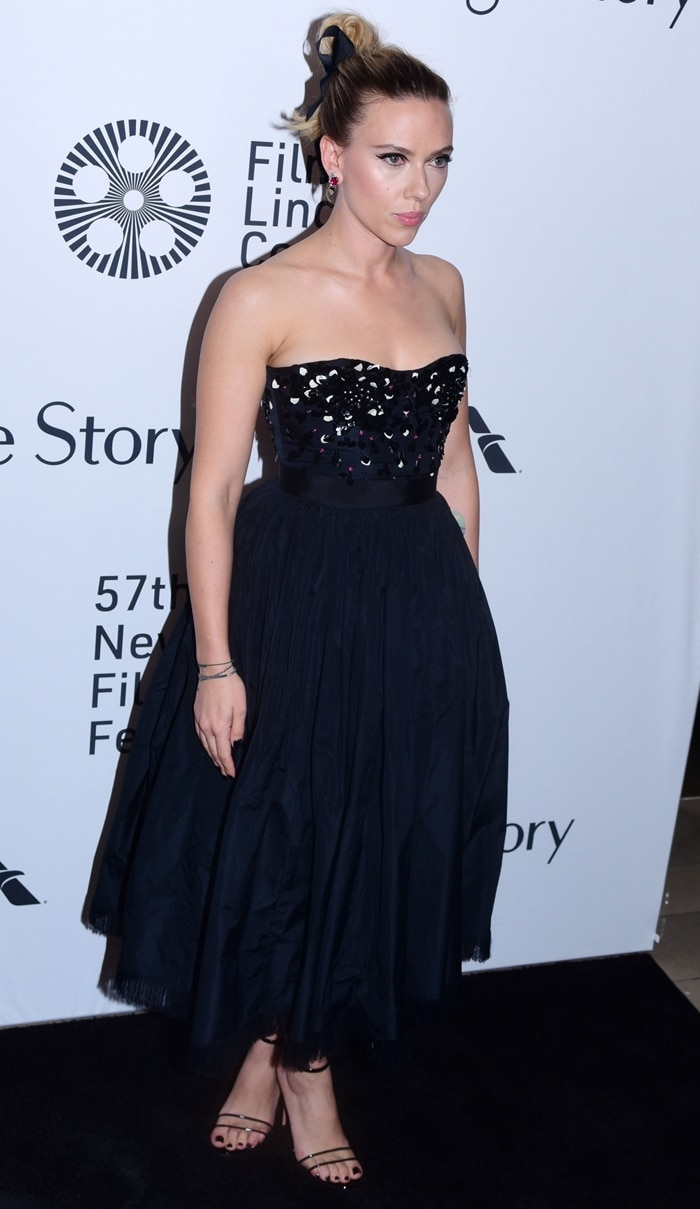 Scarlett Johansson stepped out for the 2019 New York Film Festival to attend the premiere of her new film Marriage Story