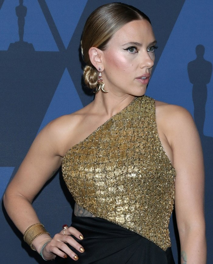 Scarlett Johansson's Talismanic golden claws by Hanut Singh