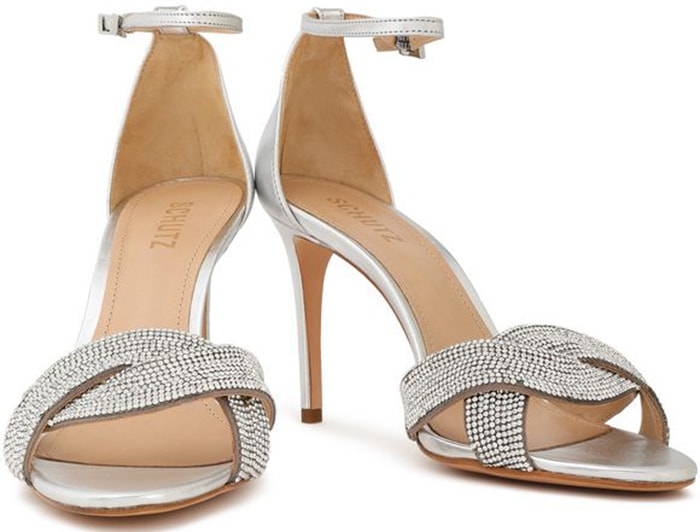 Schutz 'Jolita' Crystal-Embellished Sandals