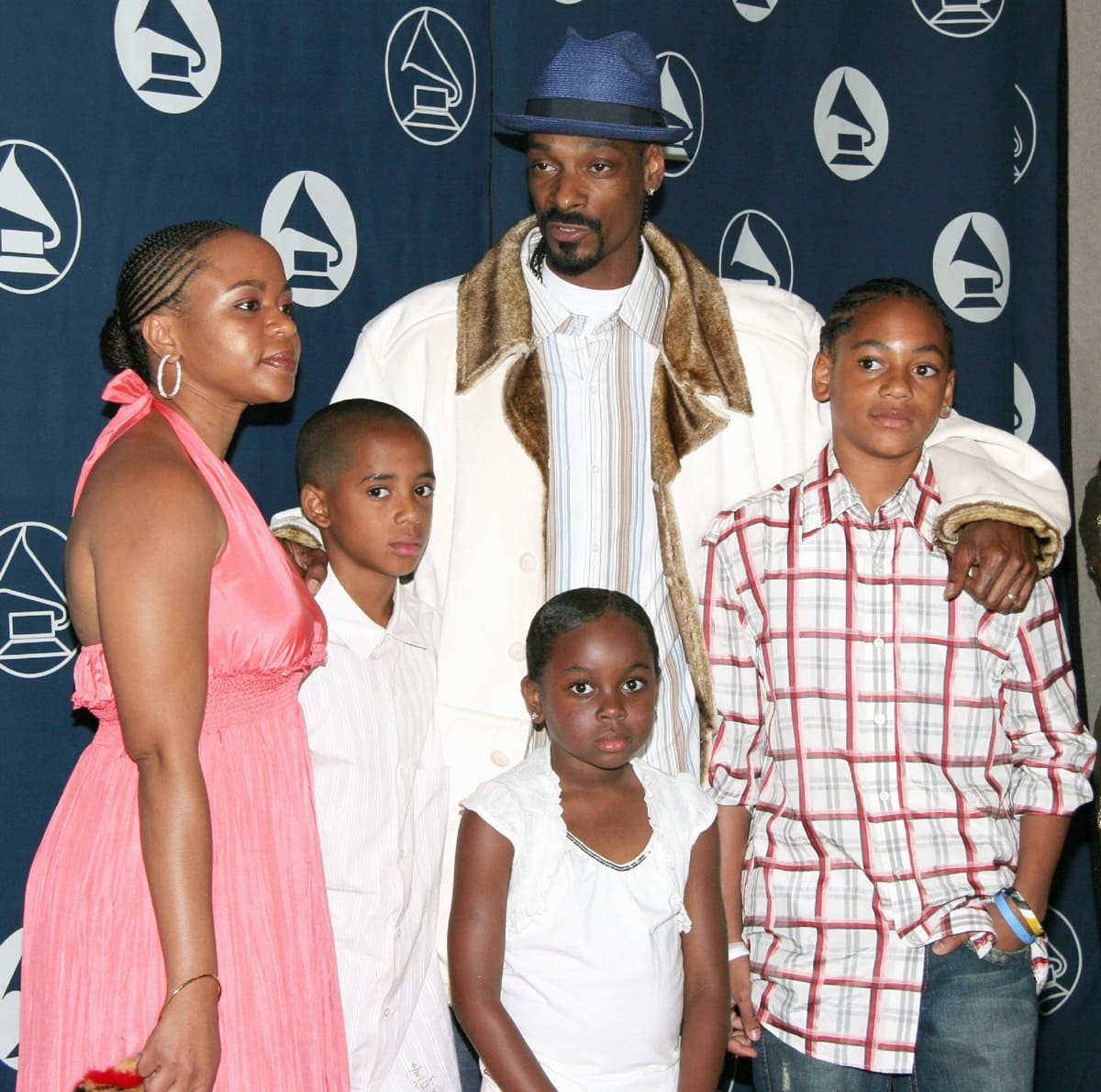 Shante Broadus and Snoop Dog with their three children Corde Broadus, Cordell Broadus, and Cori Broadus