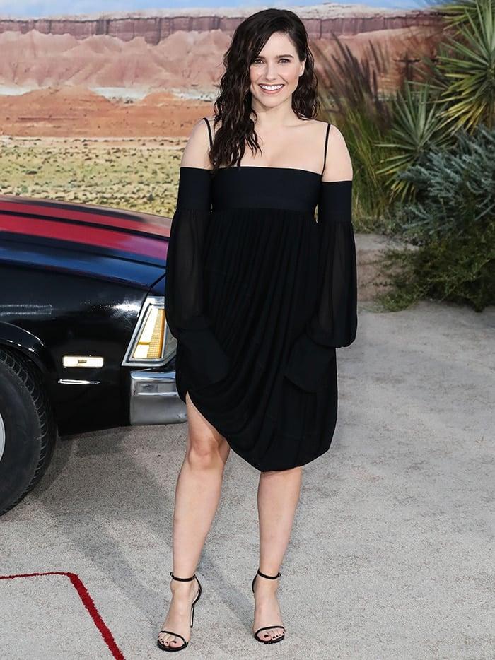 Sophia Bush kept things simple in black at the El Camino: A Breaking Bad Movie premiere in Los Angeles on October 7, 2019