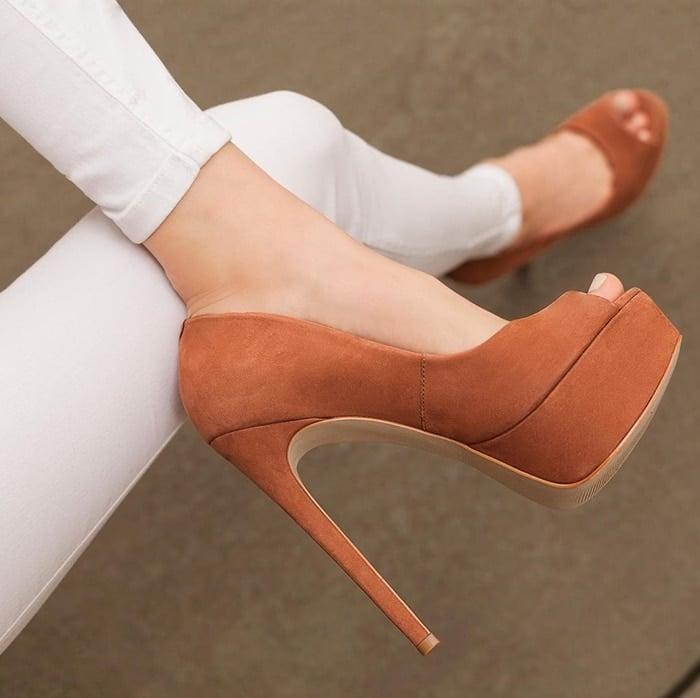 Glassy Platform Sandals Secured With