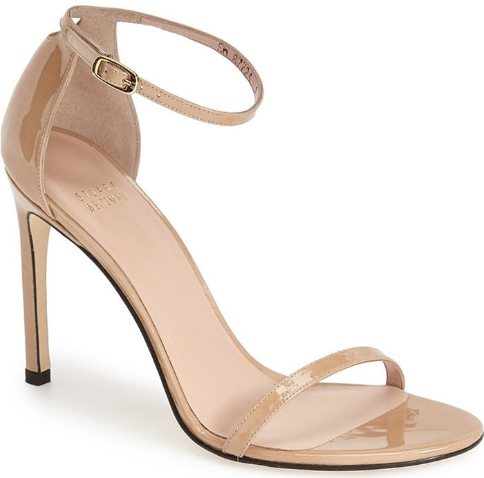 An updated version of the best-selling Nudist sandal, the Nudistsong features a slightly lower heel height while retaining the slender straps and setback heel of the original