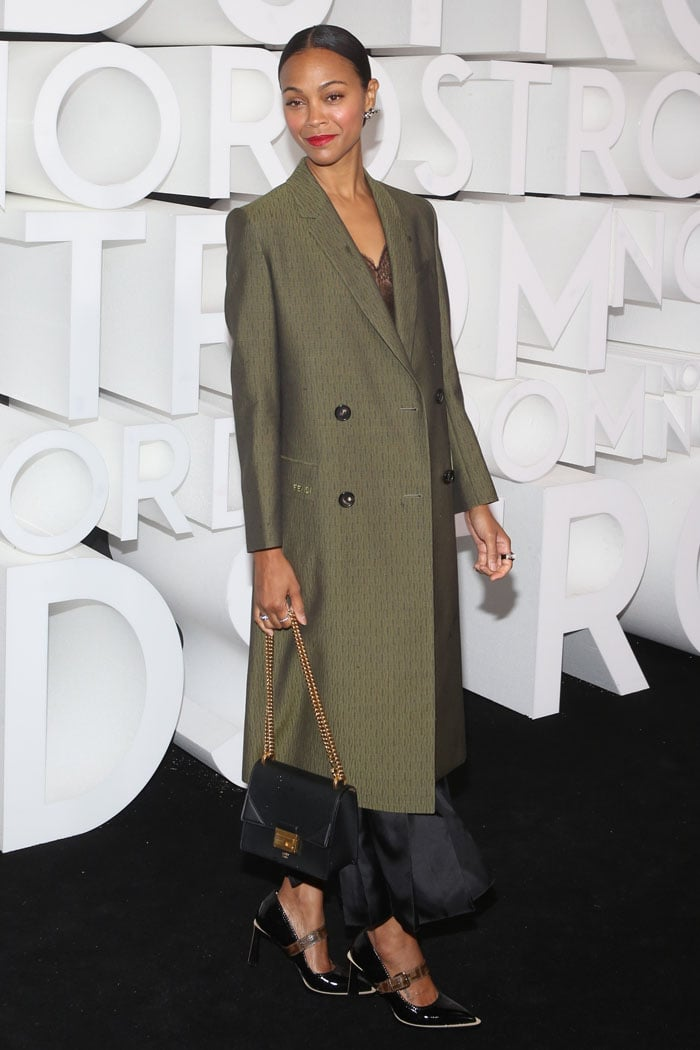 Zoe Saldana at the Nordstrom NYC Flagship Opening Party