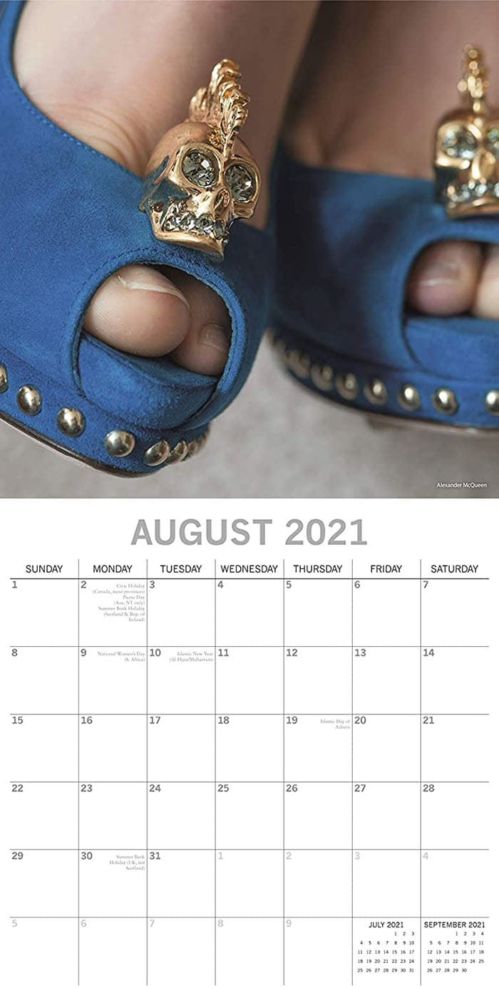 Each month has holidays and observances pre-marked for you