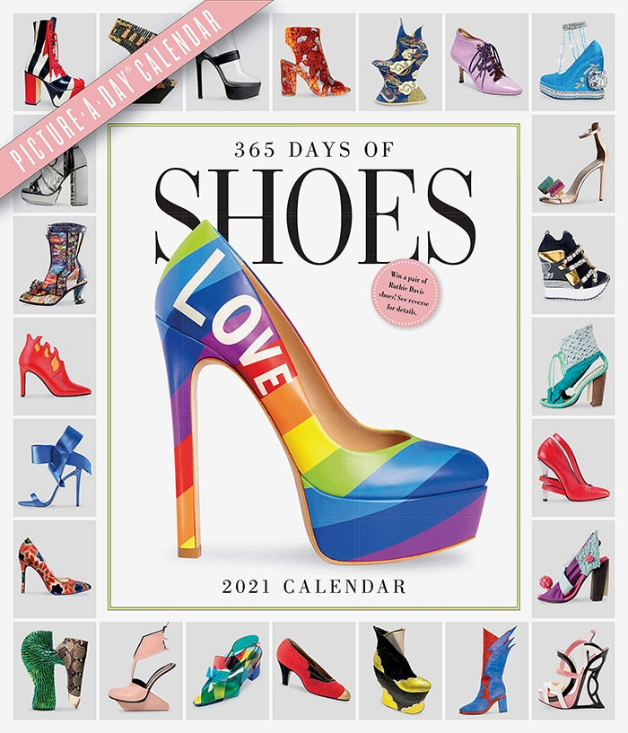 This shoe calendar features beautiful pictures of shoes ranging from the sexy to the prim, the flashy to the polished