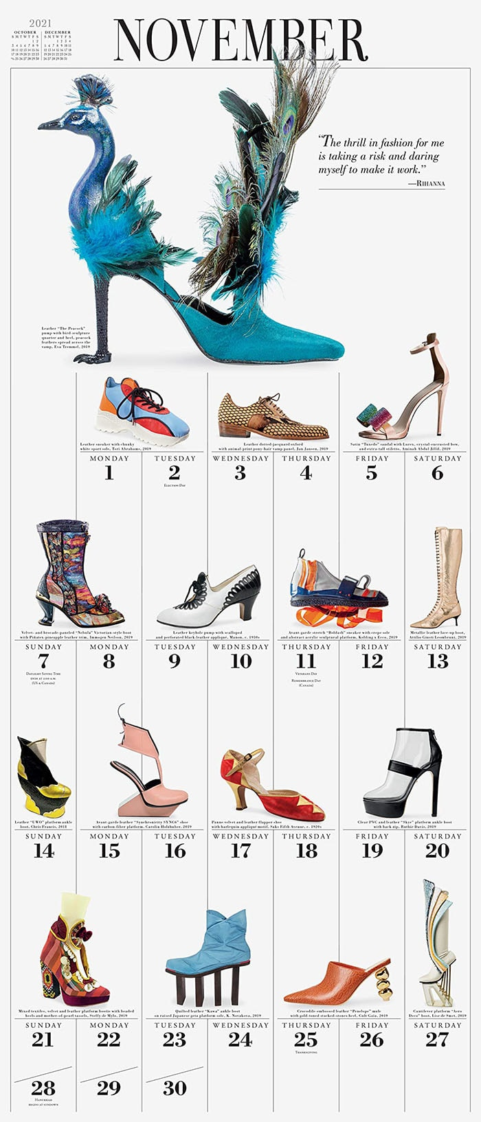 The calendar inspirational quotes from fashion designers and celebrity fashion icons