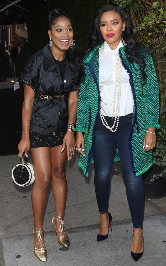 Angela Simmons and Keke Palmer arrive in style for the Through Her Lens: The Tribeca CHANEL Women's Filmmaker Program Luncheon