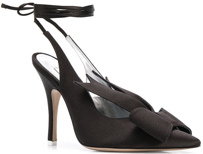 Attico Ankle-Wrap Sandals