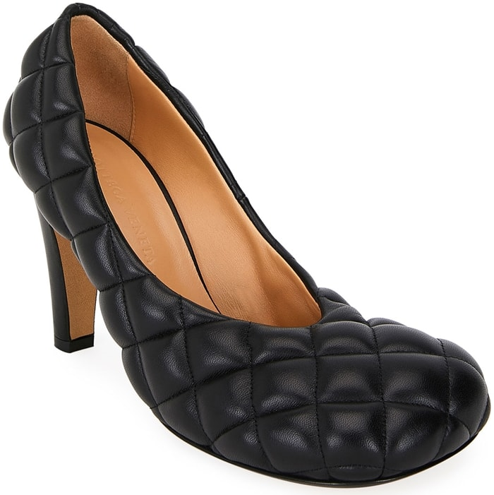 Bottega Veneta Quilted Puffy Leather Pumps