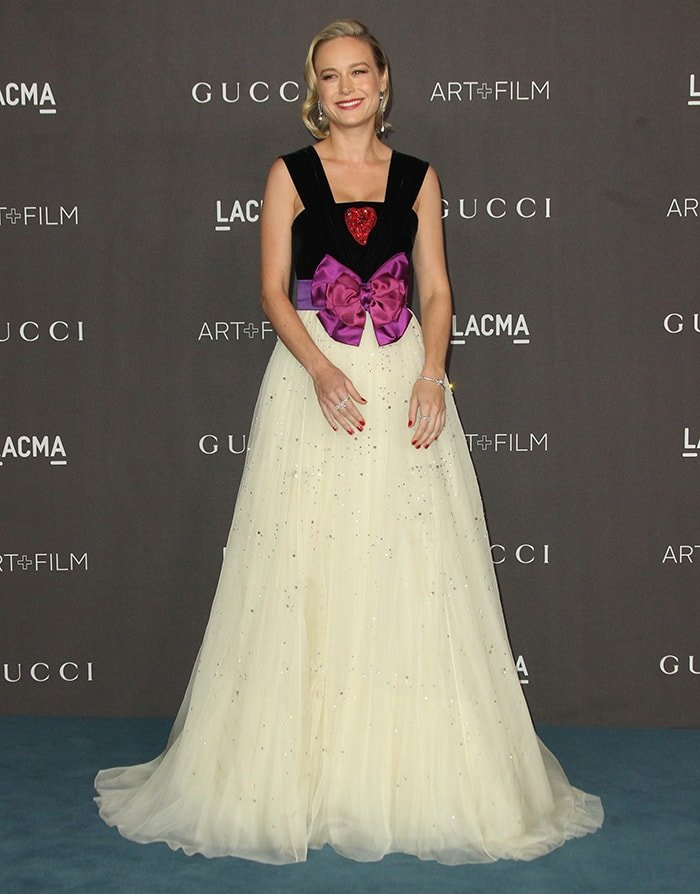 Brie Larson is a princess in Gucci velvet and organza dress