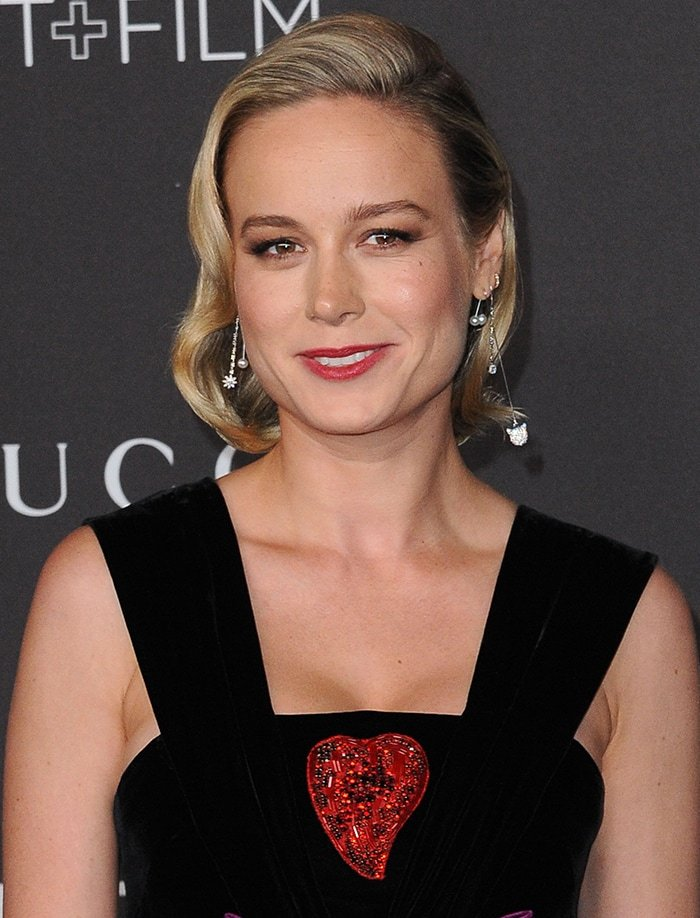 Brie Larson wears her hair in side-parted waves
