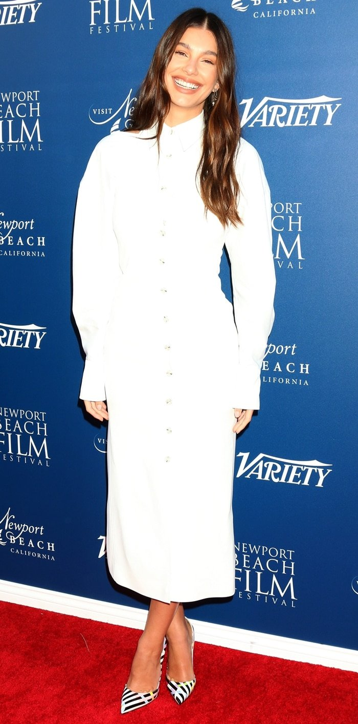 Camila Morrone arrives at Variety's 10 Actors to Watch Brunch event at the 2019 Newport Beach Film Festival