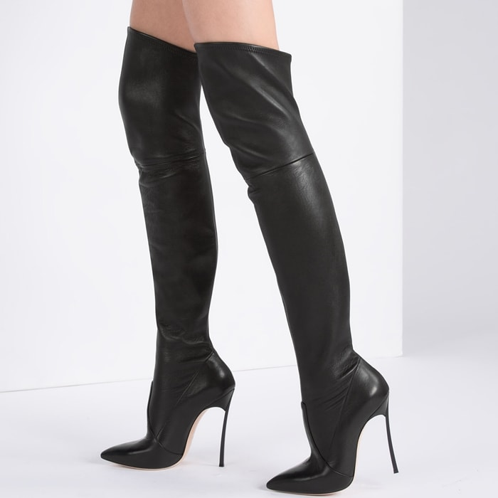 Sexy over the knee stiletto boots from Casadei