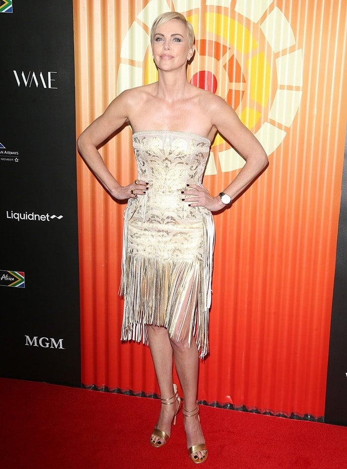 Charlize Theron hosted the Africa Outreach Project at The Africa Center in New York City on November 12, 2019