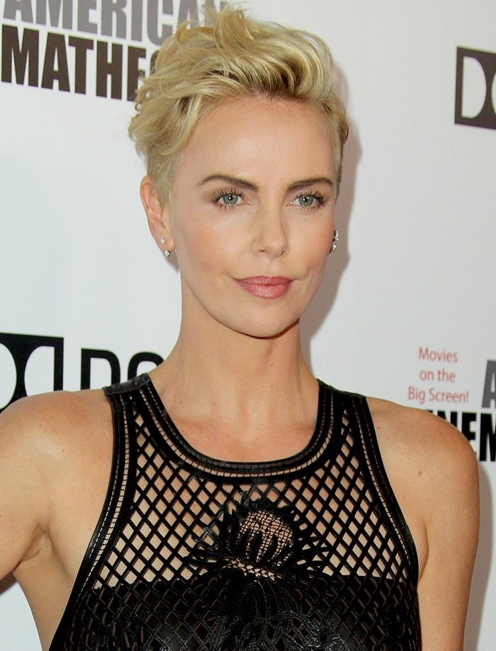 Charlize Theron debuts her new hair color