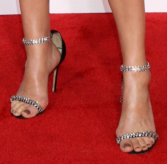 Cobie Smulders shows off her sexy feet in Jimmy Choo heels