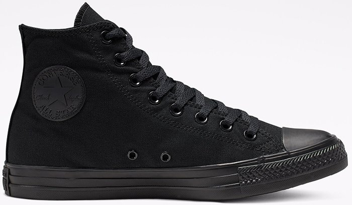 Black Chucks with 3D logo patch