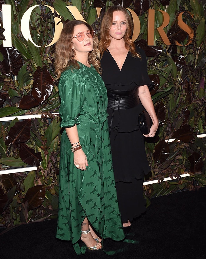 Actress Drew Barrymore supports honoree Stella McCartney at the 2019 WWD Honors held at the InterContinental New York Barclay in New York City on October 29, 2019