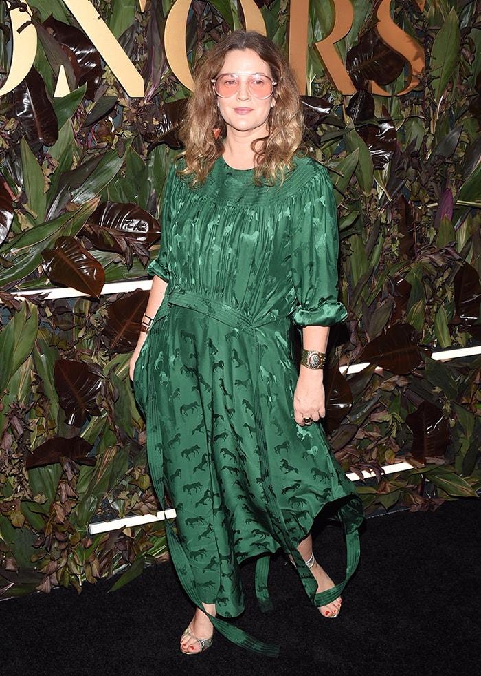 Drew Barrymore wears head-to-toe Stella McCartney