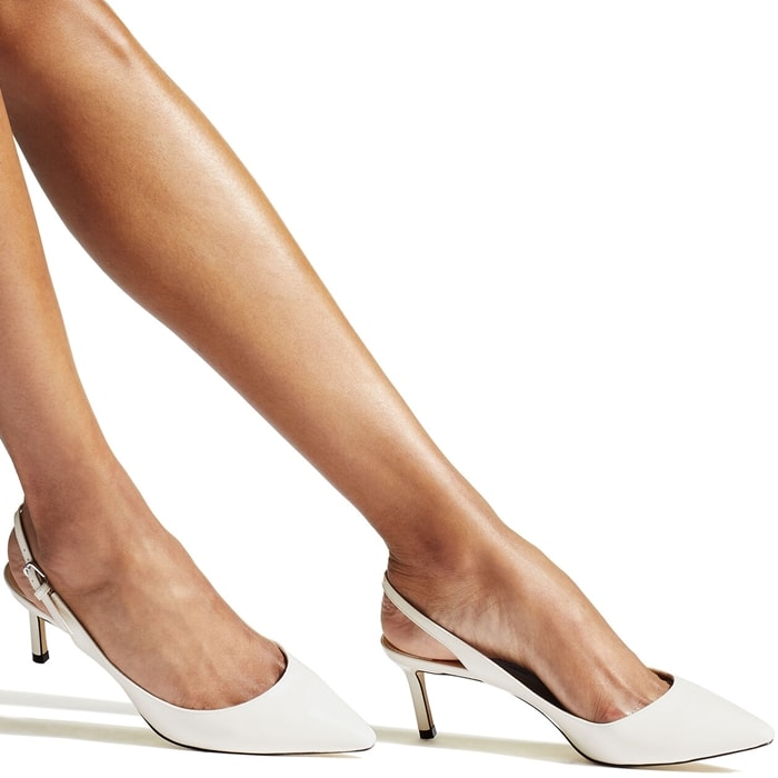 ITEM NO. ERIN60PAT The Erin pointy slingback pump in latte patent leather is a classic silhouette with modern appeal