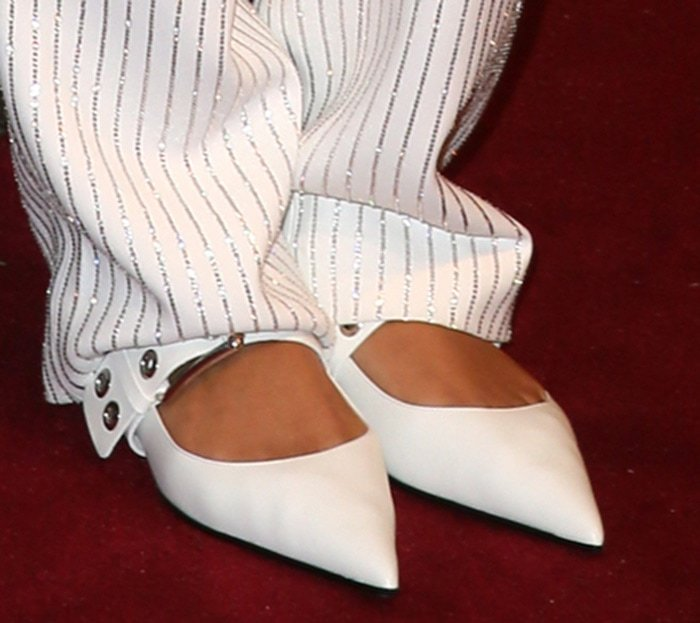 Ella Balinski in Michael Kors pointed toe flats