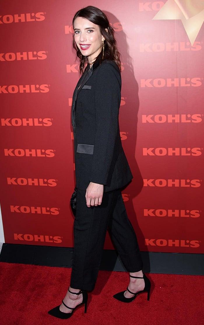 Emma Roberts kicks off Kohl's new holiday campaign in New York City on November 6, 2019