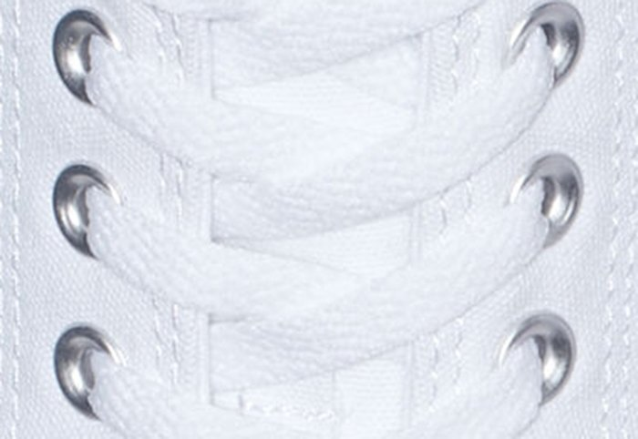 Converse eyelets should be neatly aligned