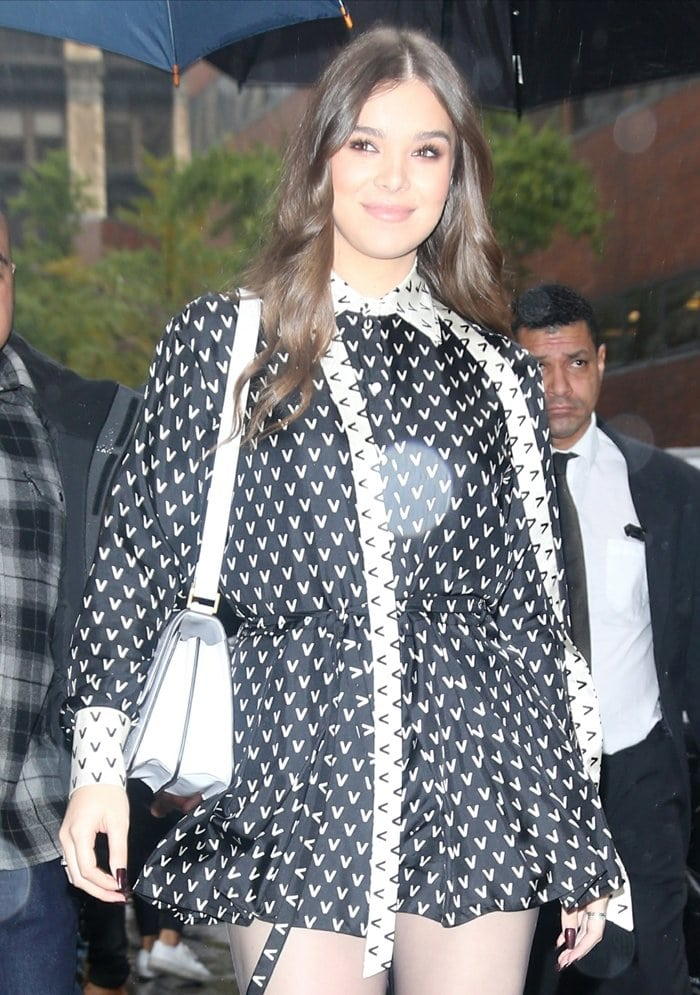 Hailee Steinfeld arrives for her appearance on Build Series in New York City on October 31, 2019