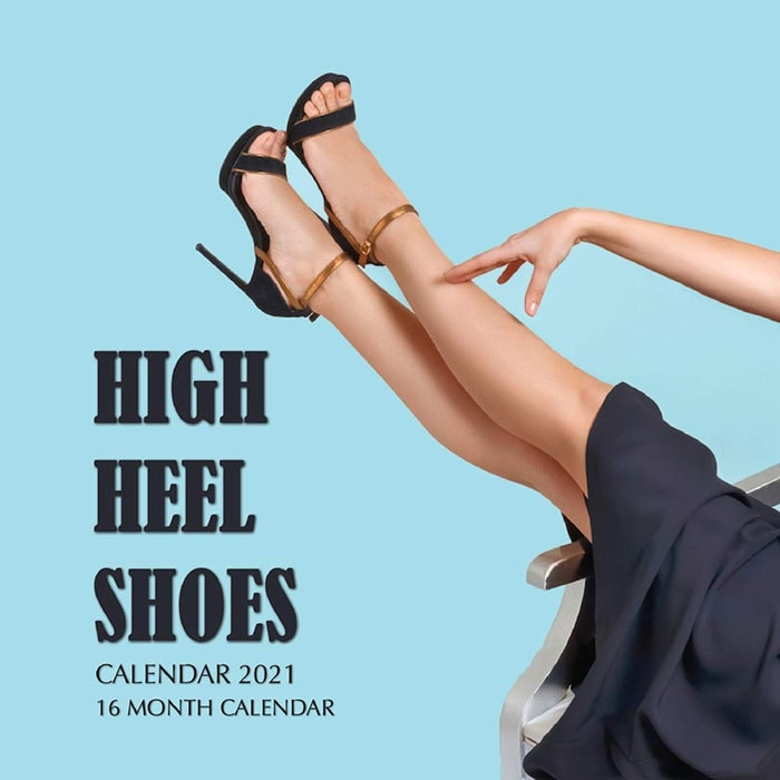 This beautiful 2021 shoe calendar contains 16 months with stunning high heel shoes